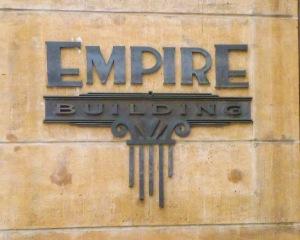 Art Deco plate on the Empire Building, Boise, Idaho